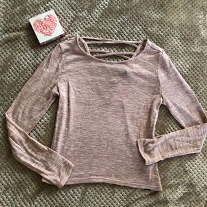 Divided Light pink sweater